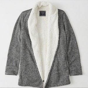Abercrombie & Fitch Sherpa Cardigan